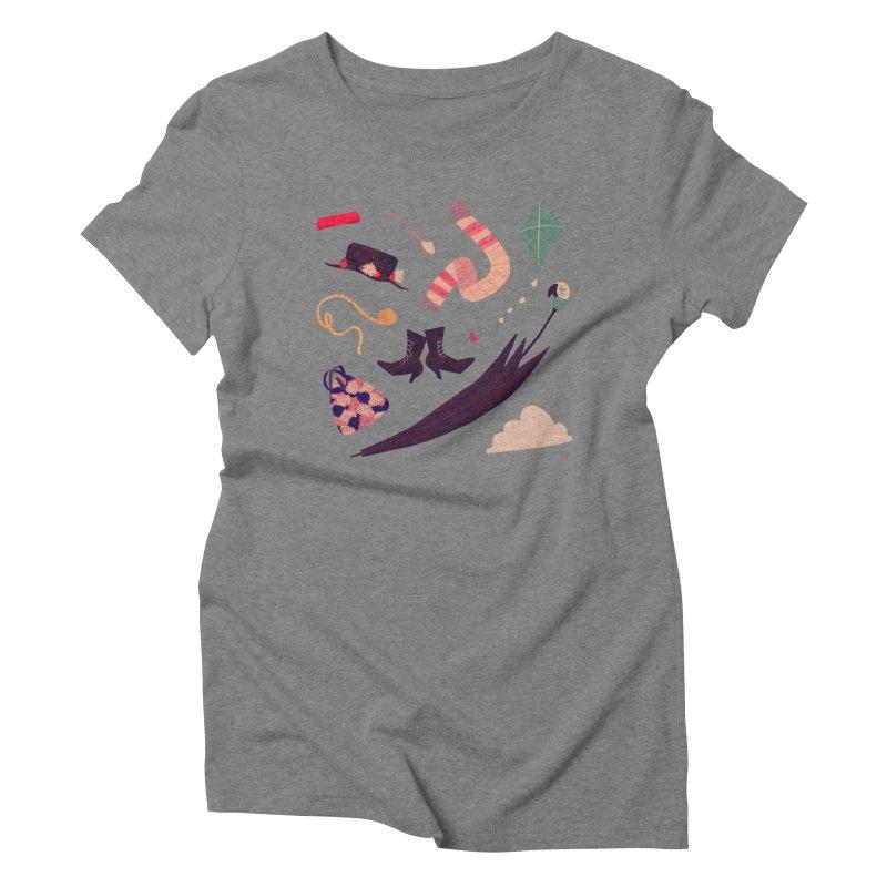 Practically Perfect Pattern Women's Triblend T-Shirt by Nan Lawson