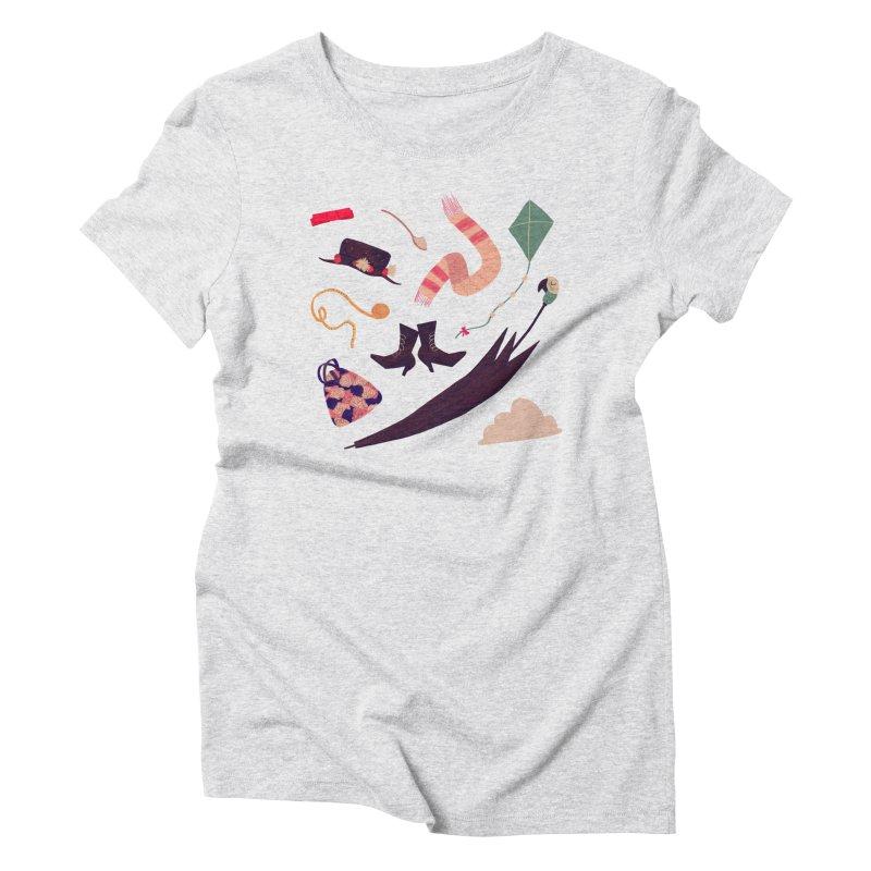 Practically Perfect Pattern Women's Triblend T-shirt by nanlawson's Artist Shop