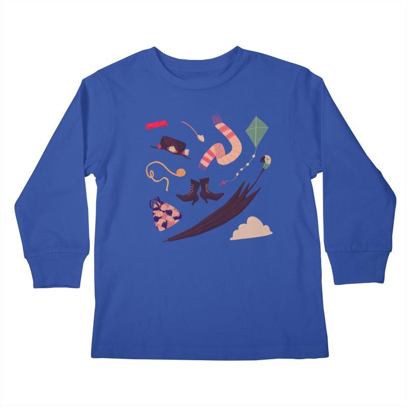 Practically Perfect Pattern Kids Longsleeve T-Shirt by Nan Lawson