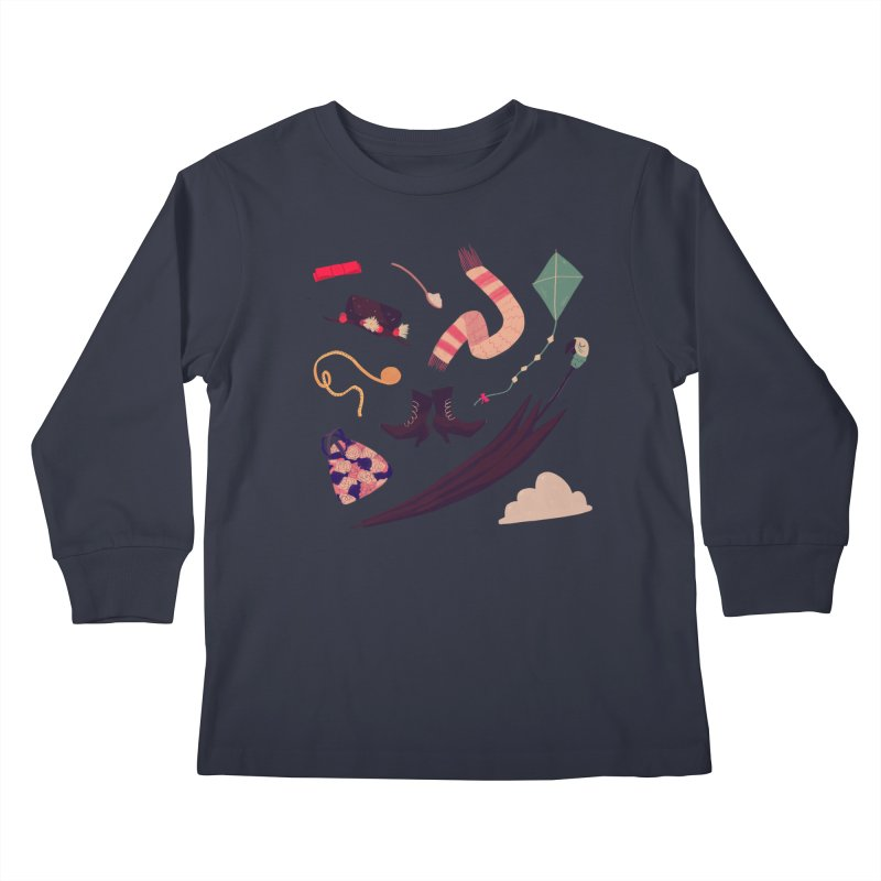 Practically Perfect Pattern Kids Longsleeve T-Shirt by nanlawson's Artist Shop