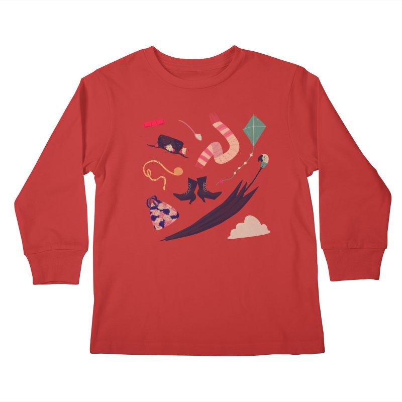 Practically Perfect Pattern Kids Longsleeve T-Shirt by nanlawson's Artist Shop