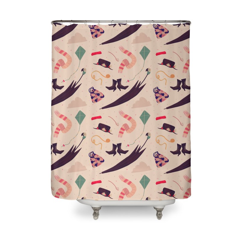 Practically Perfect Pattern Home Shower Curtain by nanlawson's Artist Shop