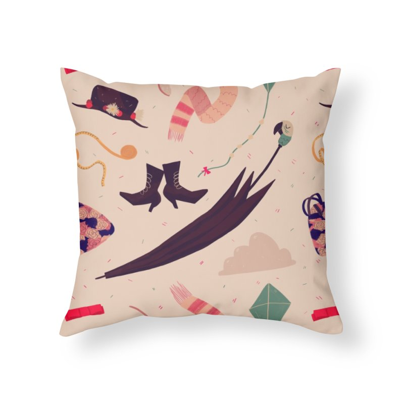 Practically Perfect Pattern Home Throw Pillow by Nan Lawson