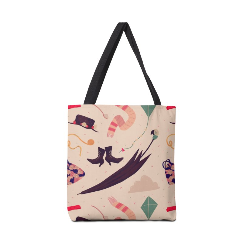 Practically Perfect Pattern Accessories Tote Bag Bag by Nan Lawson