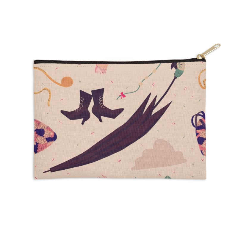 Practically Perfect Pattern Accessories Zip Pouch by nanlawson's Artist Shop