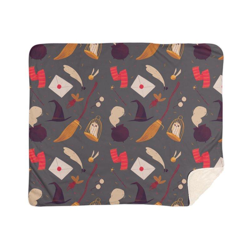 Magic Pattern Home Sherpa Blanket Blanket by Nan Lawson