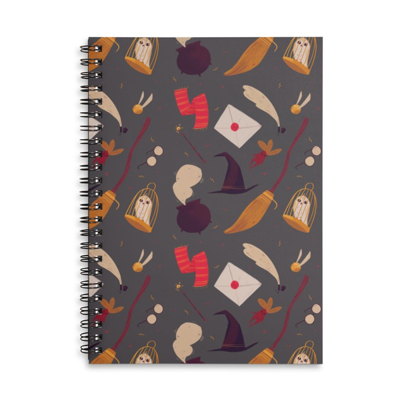 Magic Pattern Accessories Lined Spiral Notebook by Nan Lawson