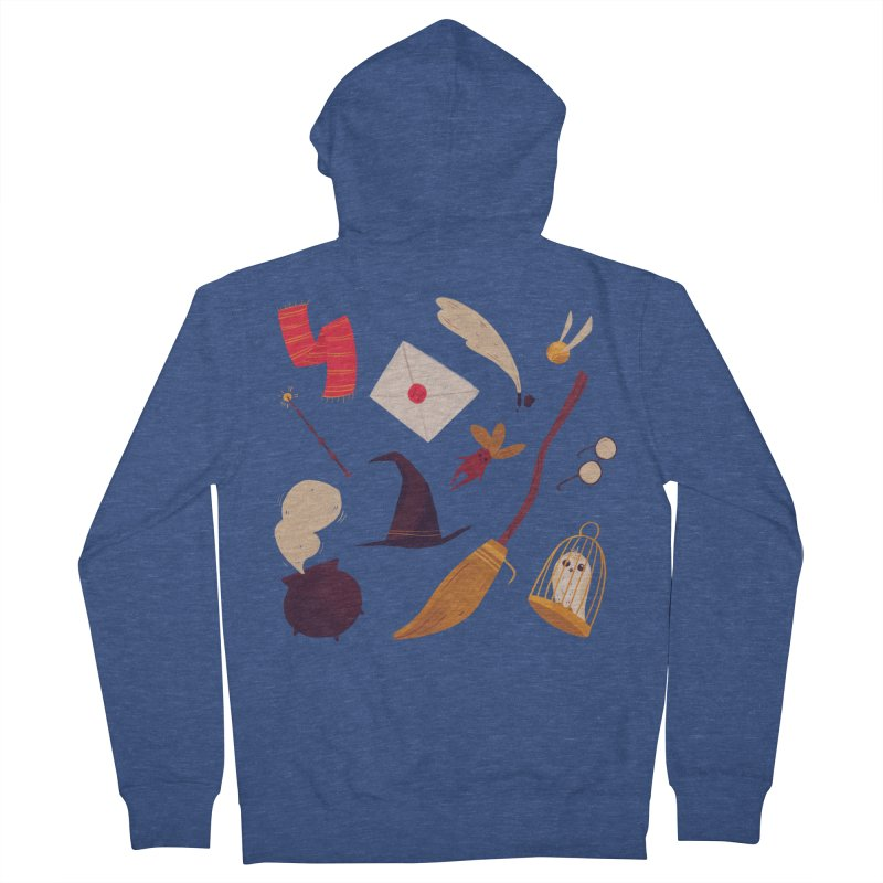 Magic Pattern Men's French Terry Zip-Up Hoody by nanlawson's Artist Shop