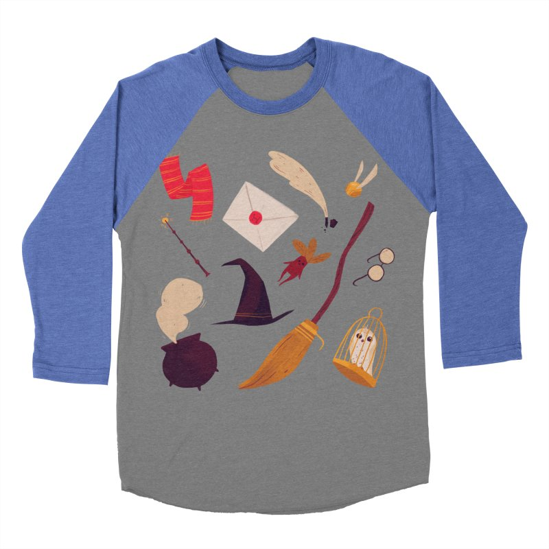 Magic Pattern Men's Baseball Triblend Longsleeve T-Shirt by nanlawson's Artist Shop