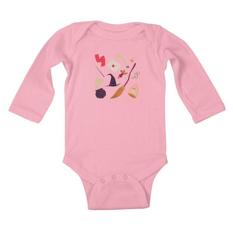 Magic Pattern Kids Baby Longsleeve Bodysuit by nanlawson's Artist Shop