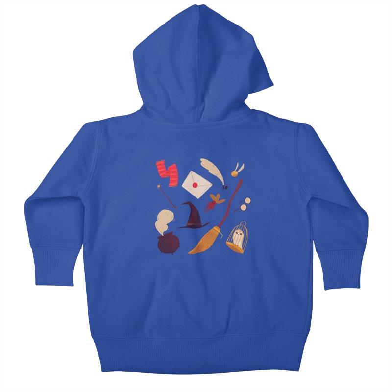 Magic Pattern Kids Baby Zip-Up Hoody by nanlawson's Artist Shop