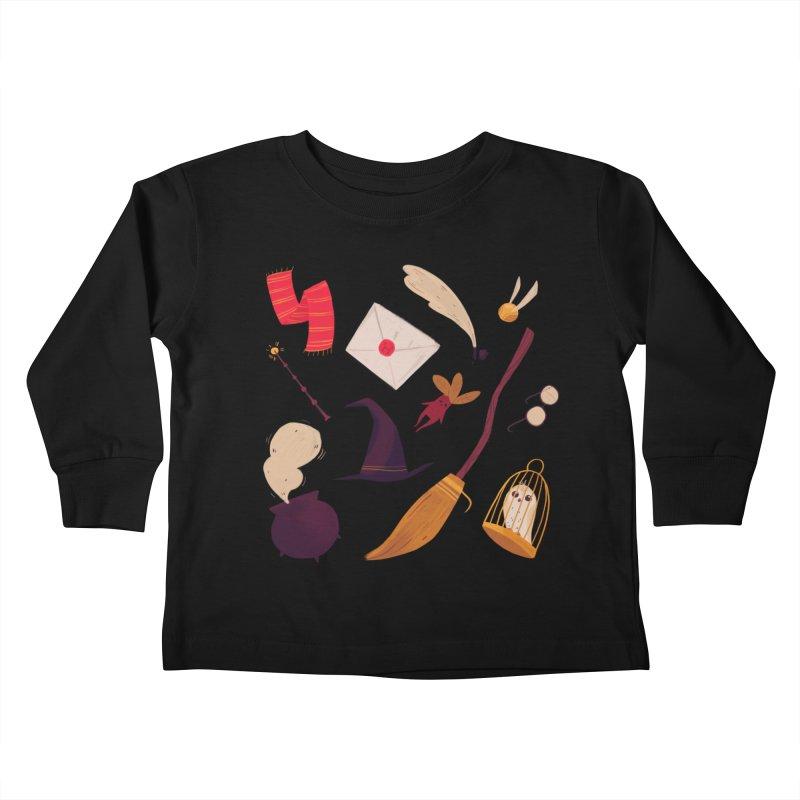 Magic Pattern Kids Toddler Longsleeve T-Shirt by Nan Lawson
