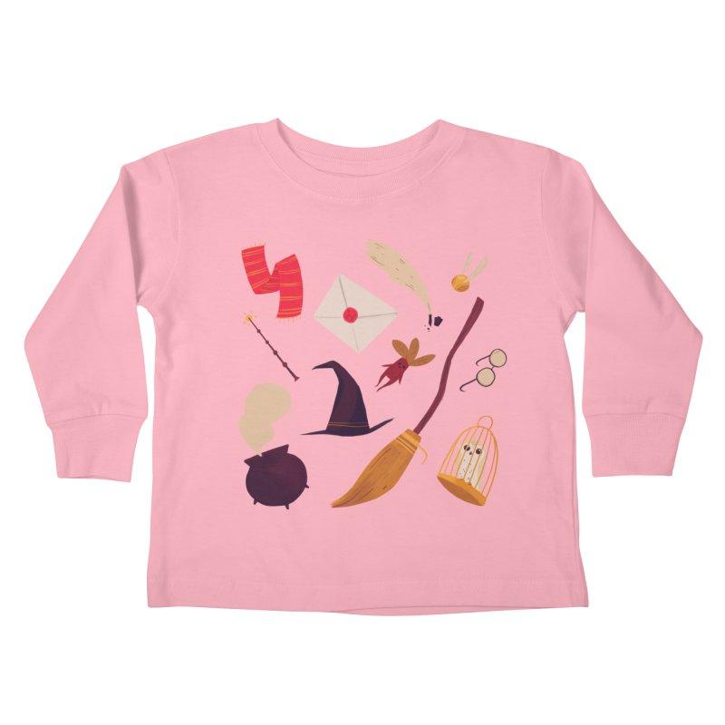 Magic Pattern Kids Toddler Longsleeve T-Shirt by nanlawson's Artist Shop