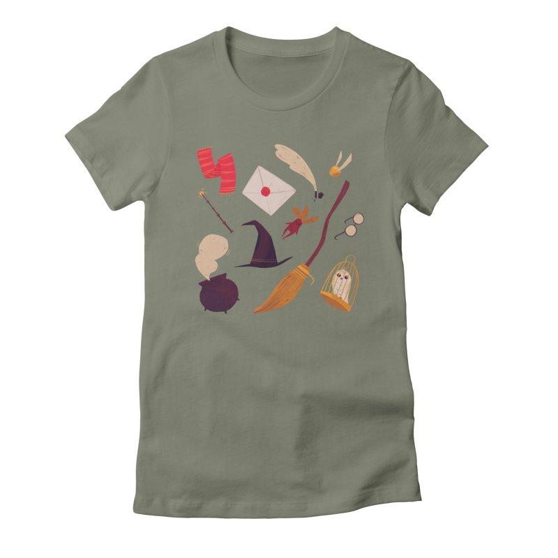 Magic Pattern Women's Fitted T-Shirt by nanlawson's Artist Shop