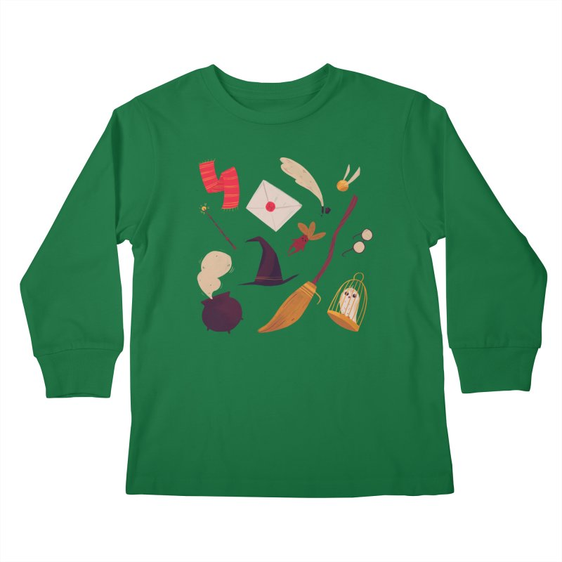 Magic Pattern Kids Longsleeve T-Shirt by Nan Lawson