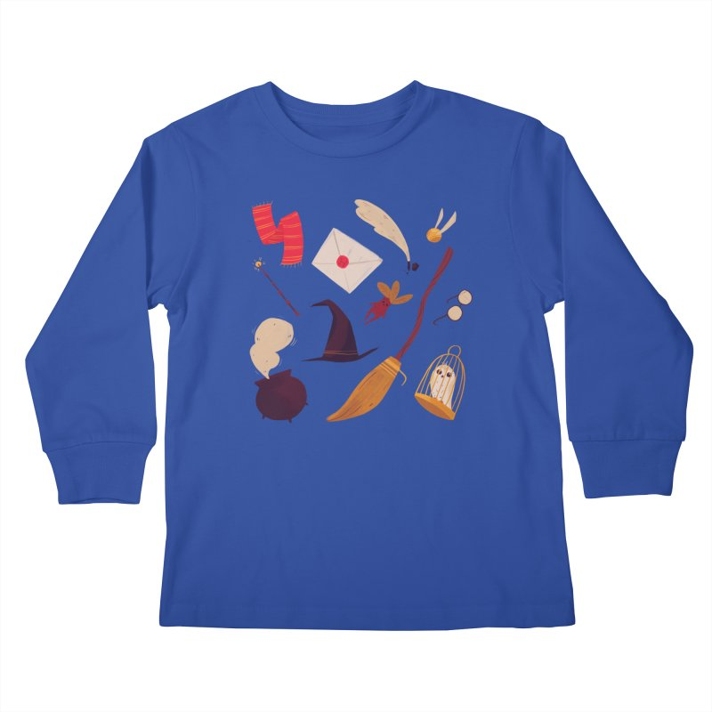 Magic Pattern Kids Longsleeve T-Shirt by Nan Lawson