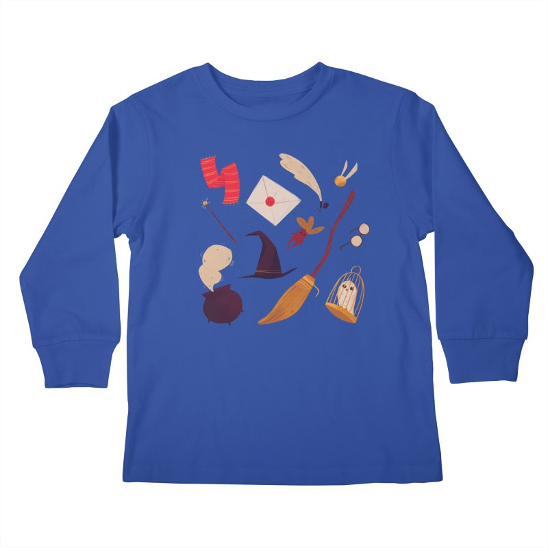 Magic Pattern Kids Longsleeve T-Shirt by nanlawson's Artist Shop