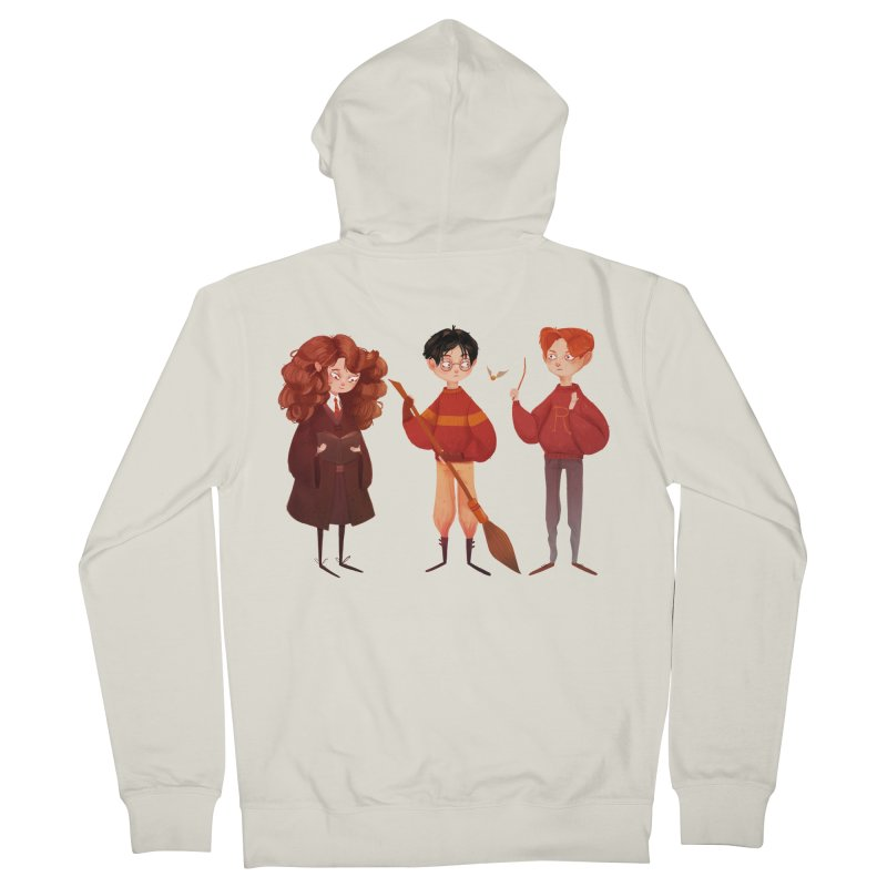 Friendship and Bravery Men's French Terry Zip-Up Hoody by nanlawson's Artist Shop