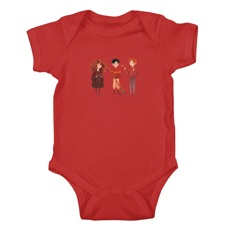 Friendship and Bravery Kids Baby Bodysuit by nanlawson's Artist Shop