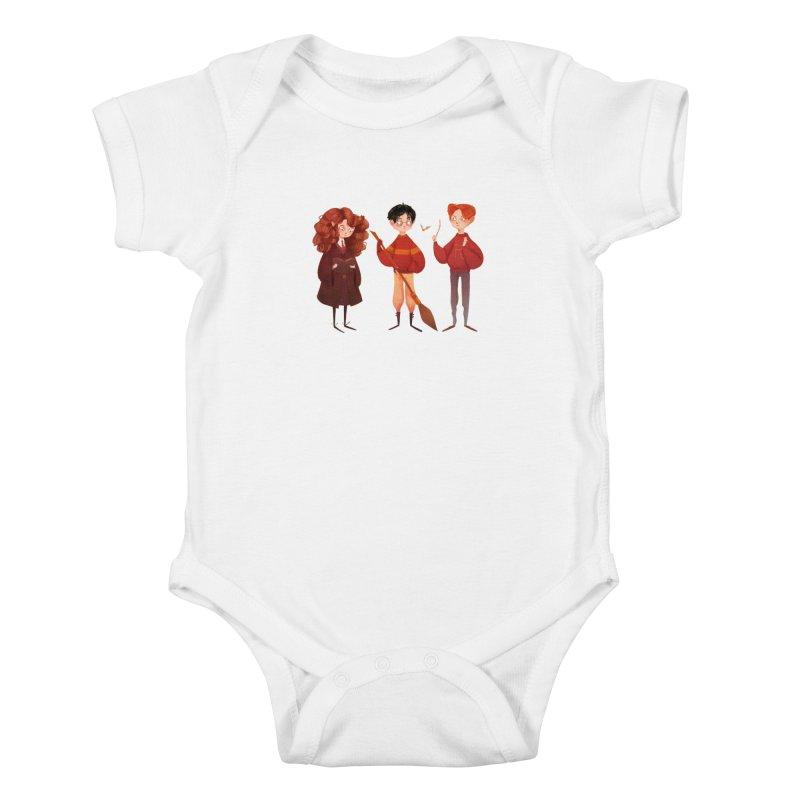 Friendship and Bravery Kids Baby Bodysuit by nanlawson's Artist Shop