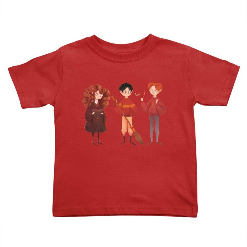Friendship and Bravery Kids Toddler T-Shirt by nanlawson's Artist Shop