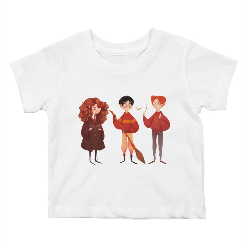 Friendship and Bravery Kids Baby T-Shirt by Nan Lawson