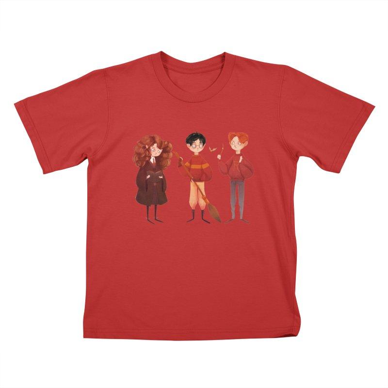 Friendship and Bravery Kids T-Shirt by nanlawson's Artist Shop