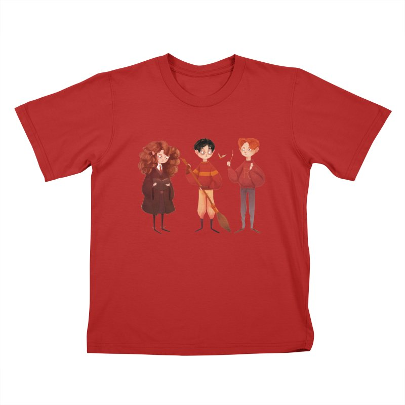 Friendship and Bravery Kids T-shirt by nanlawson's Artist Shop
