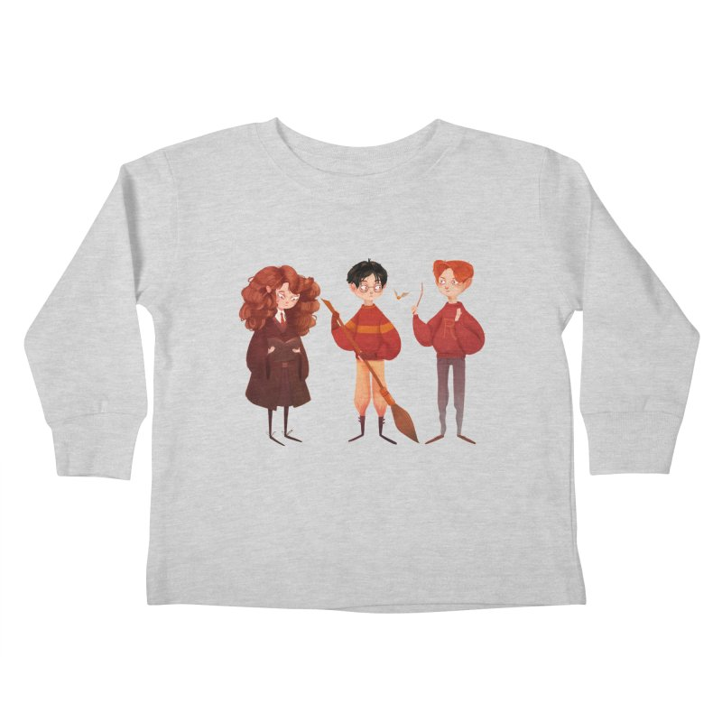 Friendship and Bravery Kids Toddler Longsleeve T-Shirt by Nan Lawson
