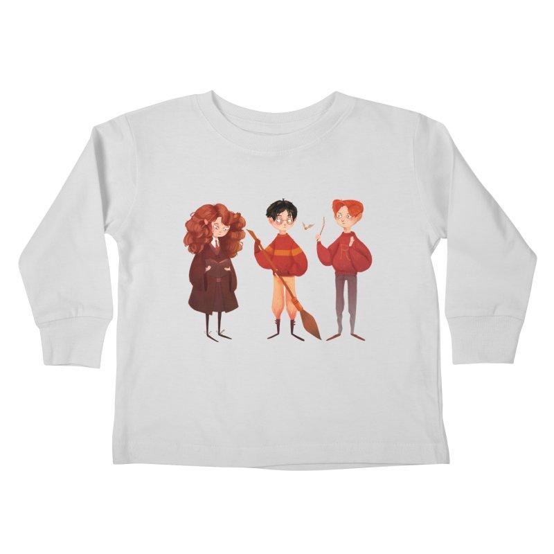 Friendship and Bravery Kids Toddler Longsleeve T-Shirt by Nan Lawson
