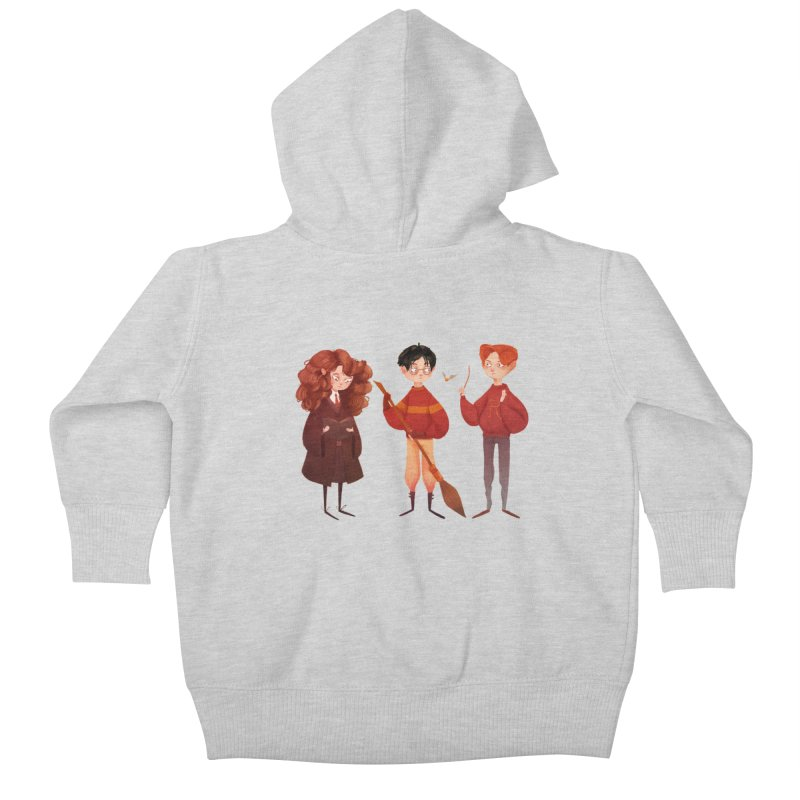 Friendship and Bravery Kids Baby Zip-Up Hoody by Nan Lawson