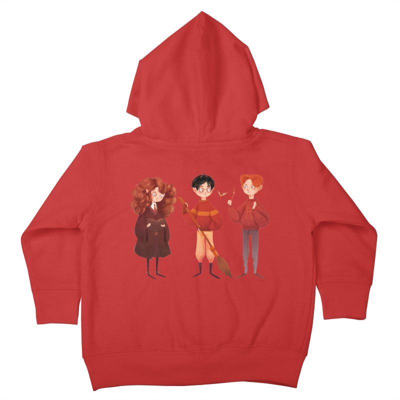 Friendship and Bravery Kids Toddler Zip-Up Hoody by nanlawson's Artist Shop