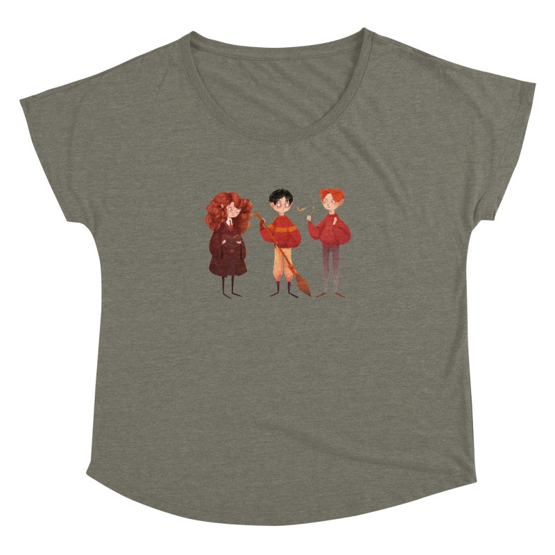 Friendship and Bravery Women's Dolman Scoop Neck by nanlawson's Artist Shop