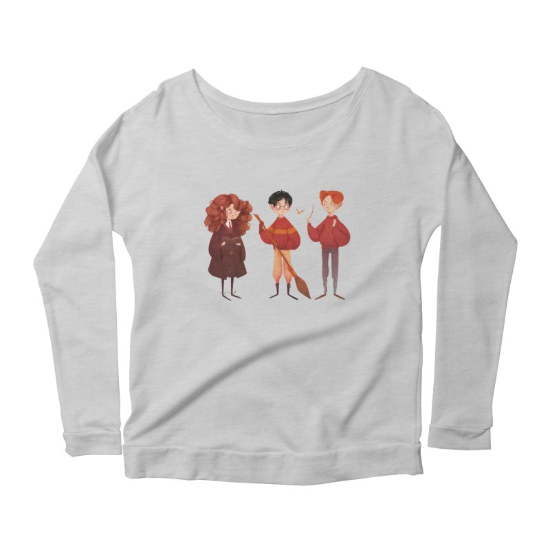 Friendship and Bravery Women's Scoop Neck Longsleeve T-Shirt by Nan Lawson