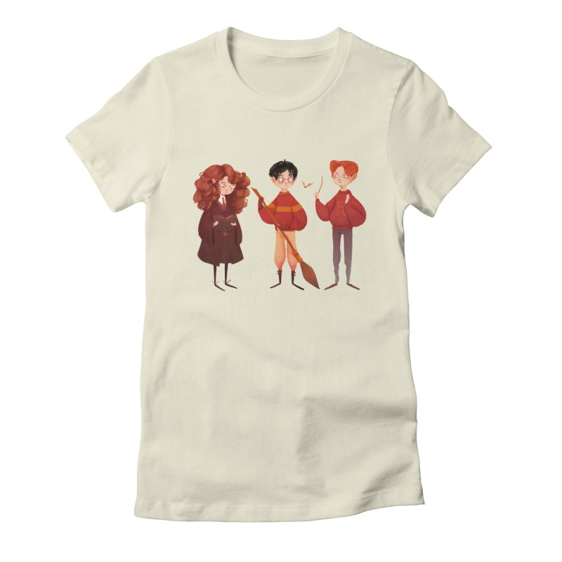 Friendship and Bravery Women's Fitted T-Shirt by nanlawson's Artist Shop