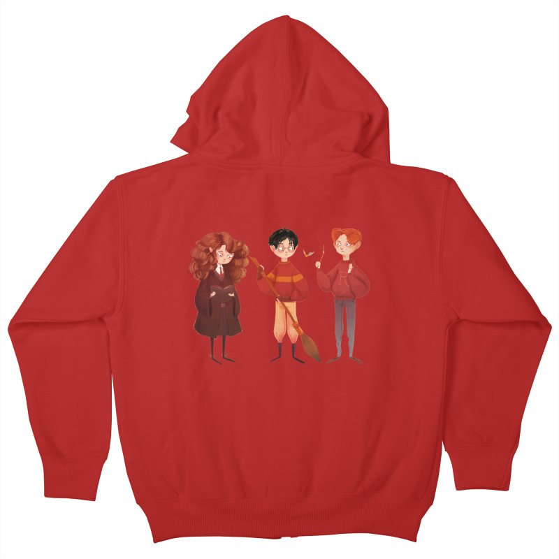 Friendship and Bravery Kids Zip-Up Hoody by nanlawson's Artist Shop