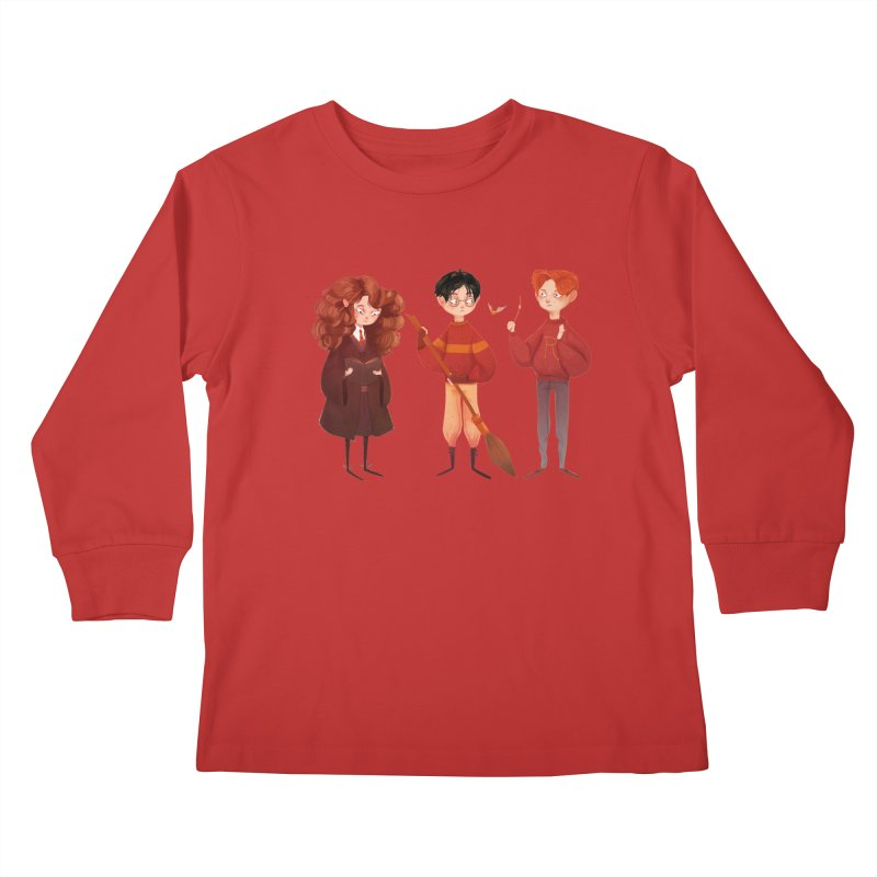 Friendship and Bravery Kids Longsleeve T-Shirt by nanlawson's Artist Shop