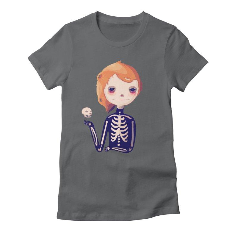Bones Women's Fitted T-Shirt by nanlawson's Artist Shop