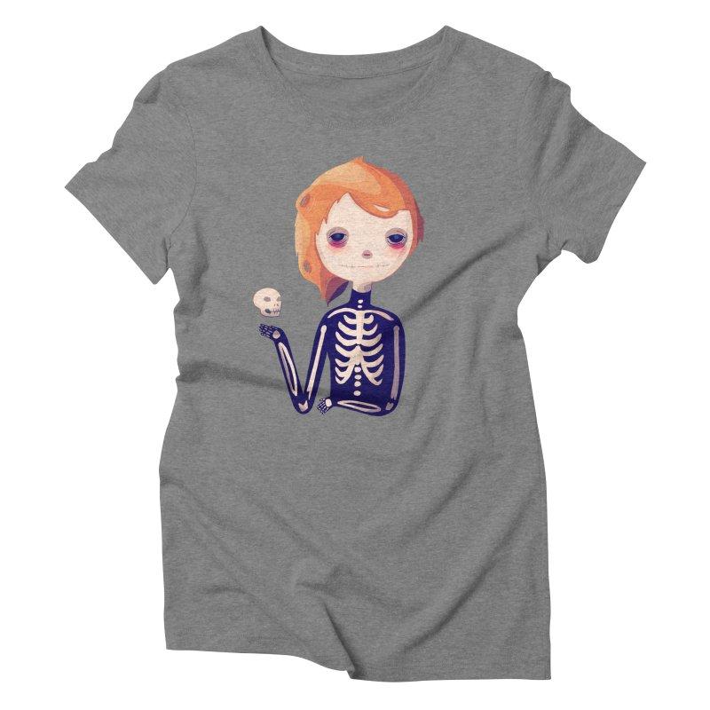 Bones Women's Triblend T-Shirt by Nan Lawson