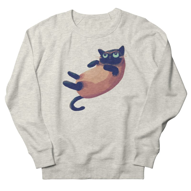 Siamese Men's French Terry Sweatshirt by nanlawson's Artist Shop