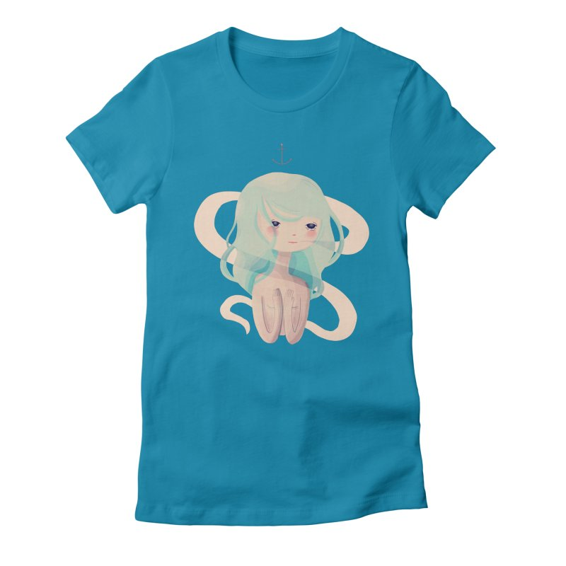 Siren Song Women's Fitted T-Shirt by Nan Lawson