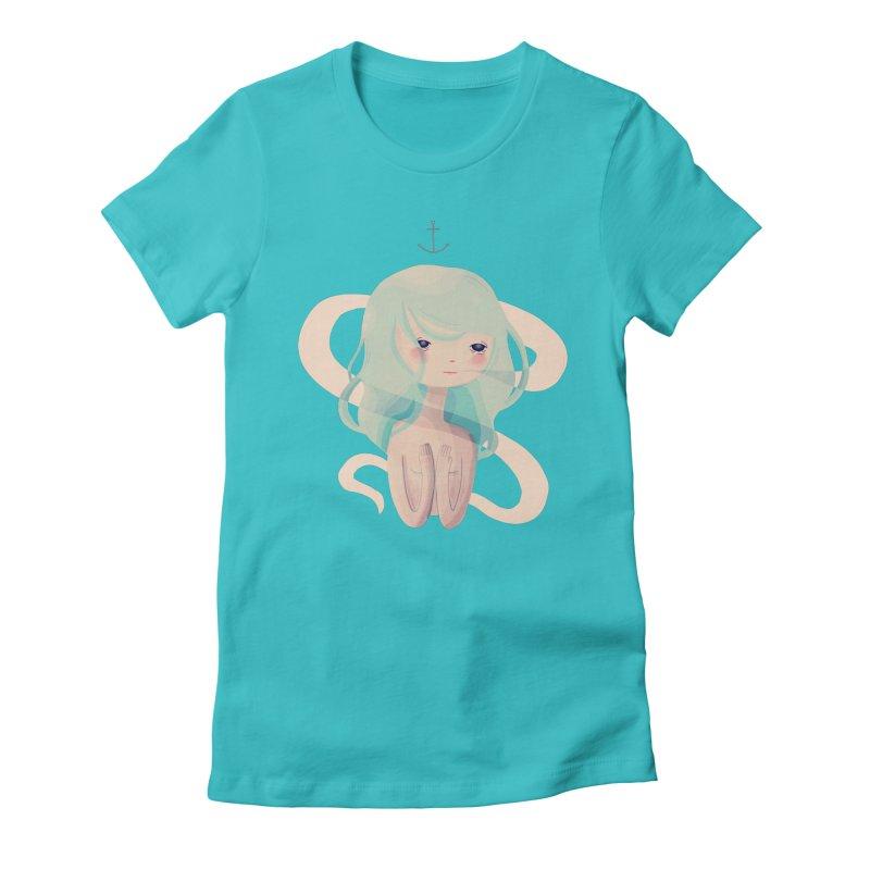 Siren Song Women's Fitted T-Shirt by nanlawson's Artist Shop