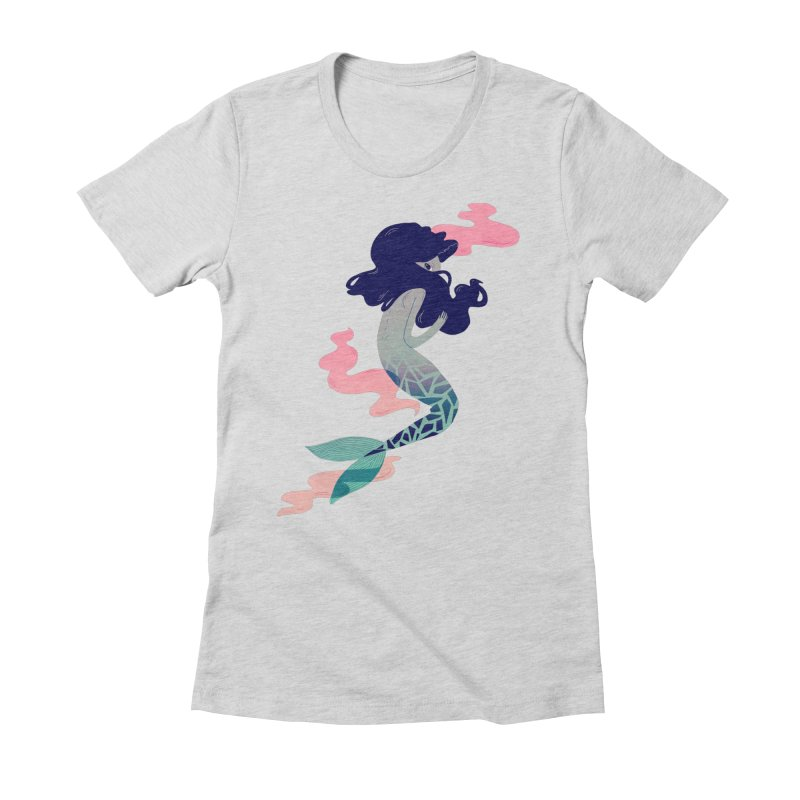Into the Deep Women's Fitted T-Shirt by nanlawson's Artist Shop