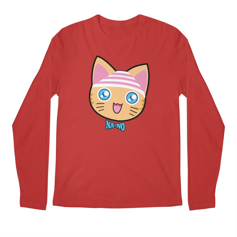 Pantsu Cat Men's Regular Longsleeve T-Shirt by [NANO]'s Tienda