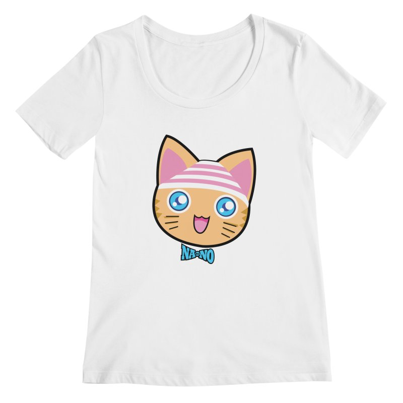 Pantsu Cat Women's Scoopneck by [NANO]'s Tienda
