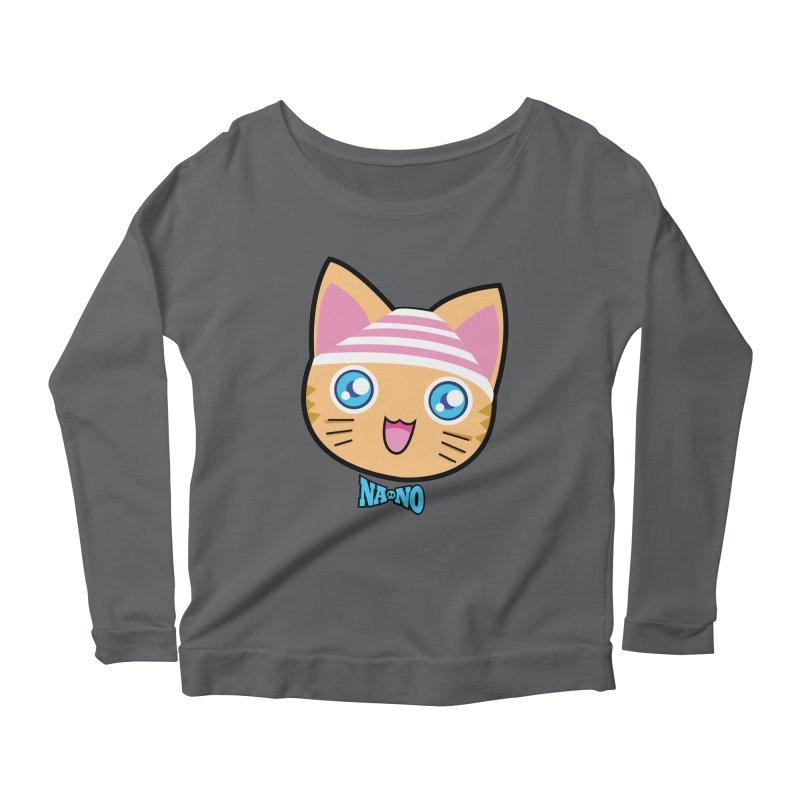 Pantsu Cat Women's Longsleeve Scoopneck  by [NANO]'s Tienda