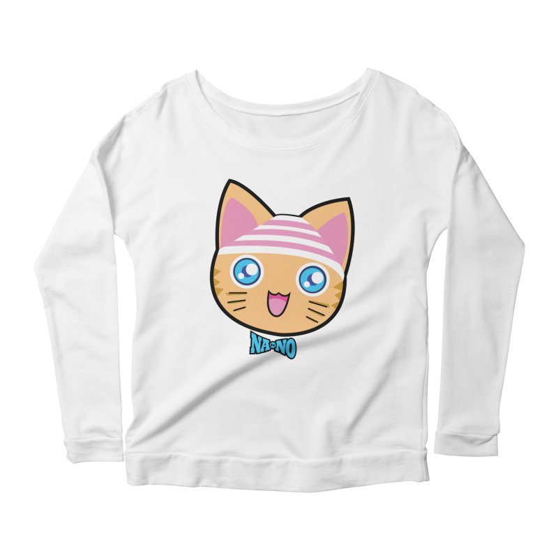 Pantsu Cat Women's Scoop Neck Longsleeve T-Shirt by [NANO]'s Tienda