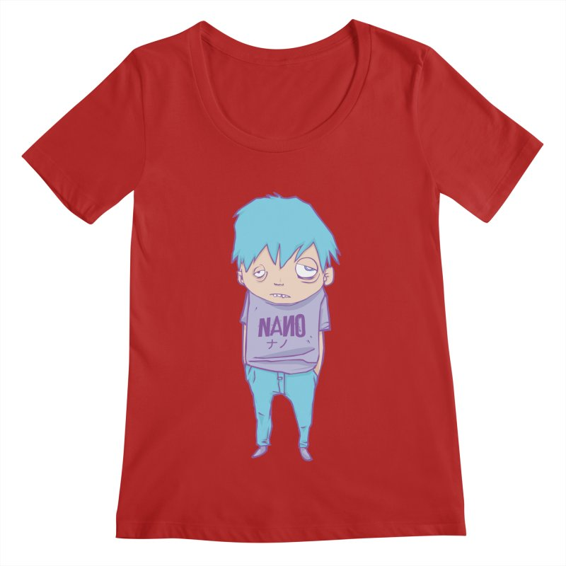 unimpressed and unbothered Women's Scoopneck by [NANO]'s Tienda