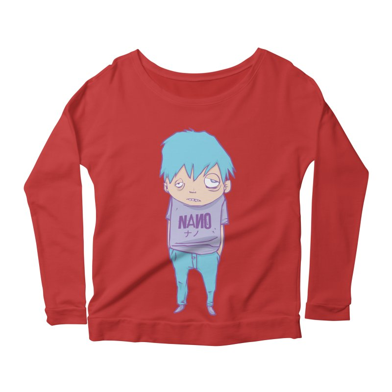 unimpressed and unbothered Women's Longsleeve Scoopneck  by [NANO]'s Tienda