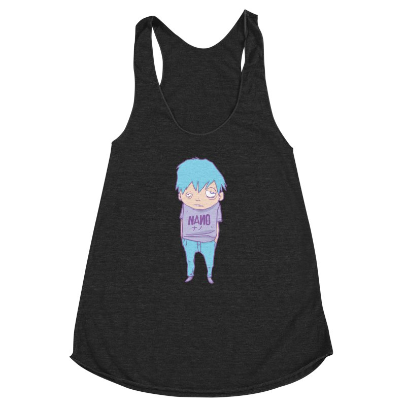 unimpressed and unbothered Women's Racerback Triblend Tank by [NANO]'s Tienda